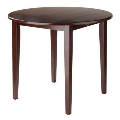 Clayton 36'' Round Drop Leaf Table in Walnut - 94436