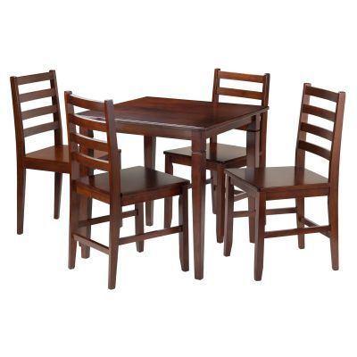 Pulman 5 Piece Extension Table with 4 Ladder Back Chairs - 94535
