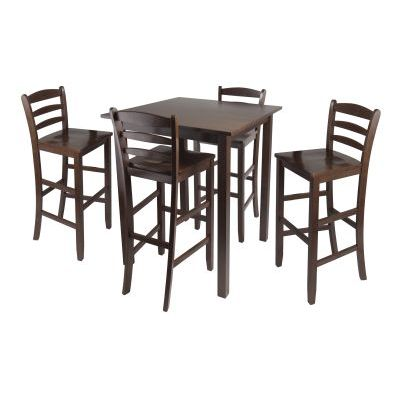 Parkland 5 Piece High Table with 29' Ladder Back Stools - 94559