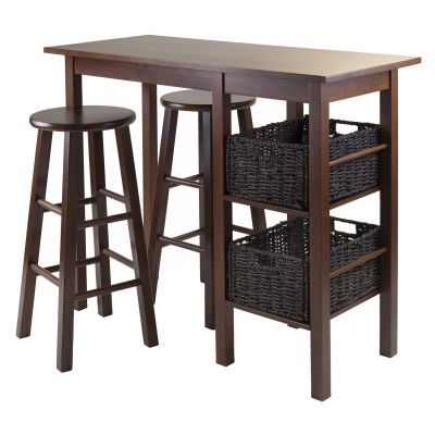 Egan 5 Piece Table with 2 Baskets & two 29' Stools - 94560