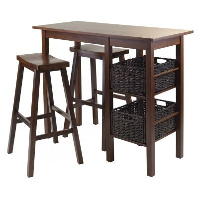 Egan 5 Piece Breakfast Table - 2 Baskets and two 29' Stools - 94589