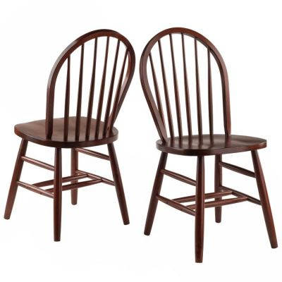 Windsor Dinign Chair in Walnut (Set of 2) - 94836