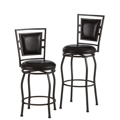 Townsend Three Piece Adjustable Stool Set in Dark Brown - 98321MTL-01-KD