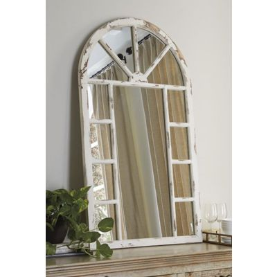 Divakar Accent Mirror in Antique White - A8010069