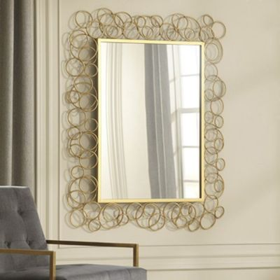 Dhaval Accent Mirror in Gold Finish - A8010104