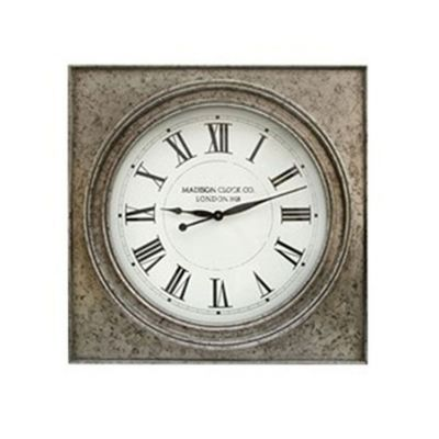 Pelham Wall Clock in Antique Silver Finish - A8010132