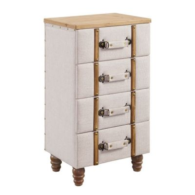 Sarah Four Drawer Padded Chest Cabinet - AC104ALM01U