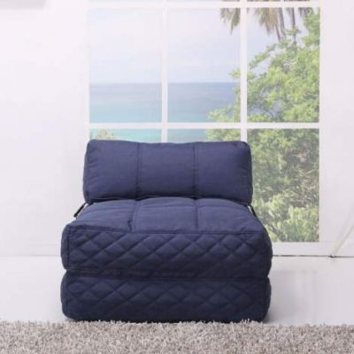 Austin Bean Bag Chair Bed in Blue - ADC-AUS-BCB-NMX-BLU