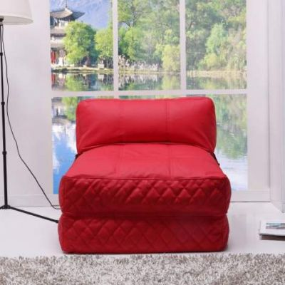 Austin Bean Bag Chair Bed in Red - ADC-AUS-BCB-PUX-RED