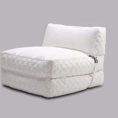 Austin Bean Bag Chair Bed in White - ADC-AUS-BCB-PUX-WHI