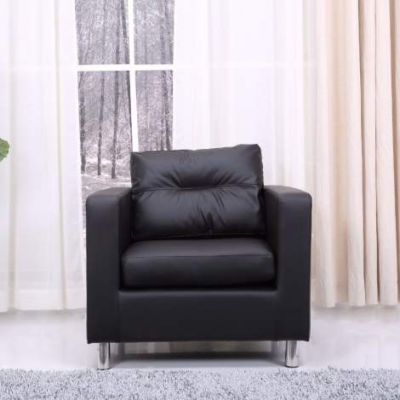 Detroit Arm Chair in Black - ADC-DET-CHA-PUX-BLK