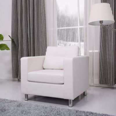 Detroit Arm Chair in White - ADC-DET-CHA-PUX-WHI