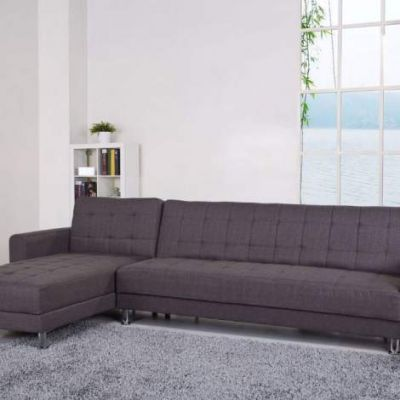 Frankfort Convertible Sectional Sofa Bed in Gray - ADC-FRA-SEC-NLX-GRA