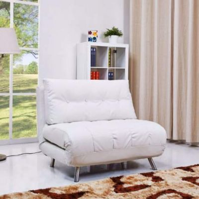 Tampa Convertible Big Chair Bed in White - ADC-TAM-CCB-PUX-WHI