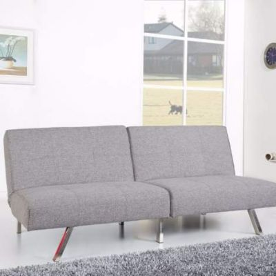 Victorville Foldable Futon Sofa Bed in Ash - ADC-VIC-CSB-NDX-ASH