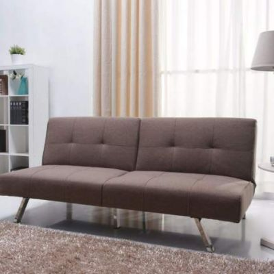 Victorville Foldable Futon Sofa Bed in Mocha - ADC-VIC-CSB-NIX-MOC