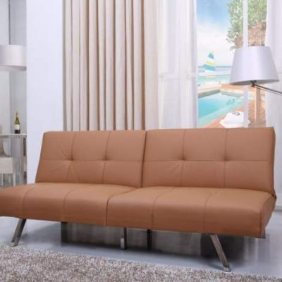 Victorville Foladable Futon Sofa Bed in Camel - ADC-VIC-CSB-PUX-CAM