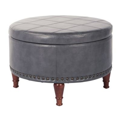 Alloway Storage Ottoman in Pewter - ALL-PD26