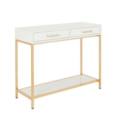 Alios Sofa Table Gold plated metal finish - ALS07-WH