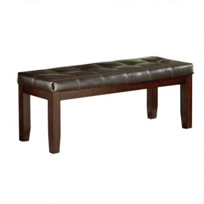 Allison Faux Leather Dining Bench in Espresso - AS700BN