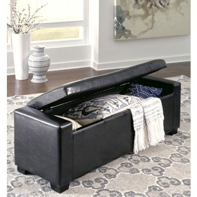 Benches Upholstered Storage Bench in Black - B010-209