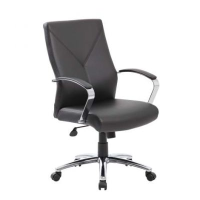 LeatherPlus Executive Chair in Black
