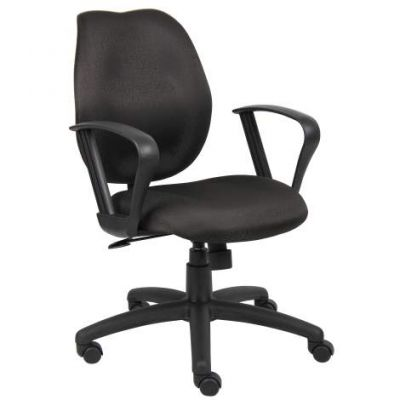 Black Task Chair withLoop Arms - B1015-BK
