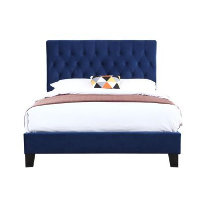 Amelia King Upholstered Bed in Navy - B128-08HBFBR-14