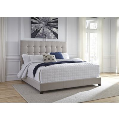 Contemporary Upholstered Beds Queen Bed in Beige - B130-581