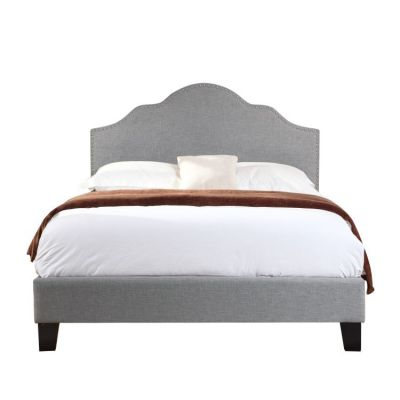 Madison Cal King Upholstered Bed in Light Gray - B131-13HBFBR-03