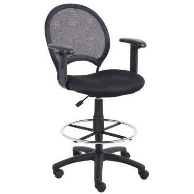Mesh Drafting Stool with Adjustable Arms