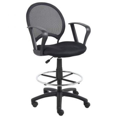 Mesh Drafting Stool with Loop Arms - B16217