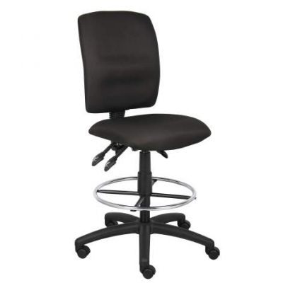 Multi-Function Fabric Drafting Stool in Black - B1635-BK