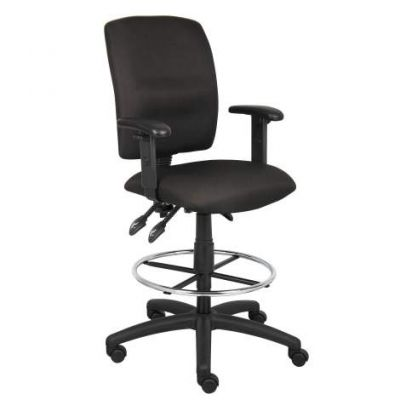 Multi-Function Drafting Stool with Adjustable Arms in Black