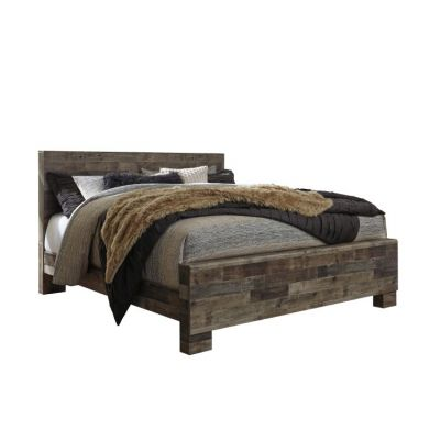 Derekson King Panel Bed in Gray - 001671_Kit