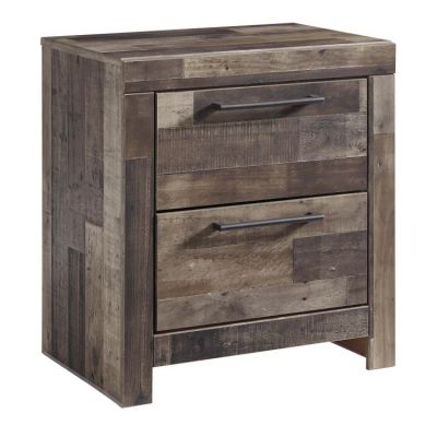 Derekson 2 Drawer Night Stand in Multi Gray - B200-92