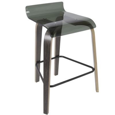 Clarity Counter Stool - B26-CLRT-DGY-GN