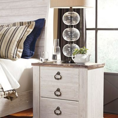 Willowton Two Drawer Night Stand - B267-92