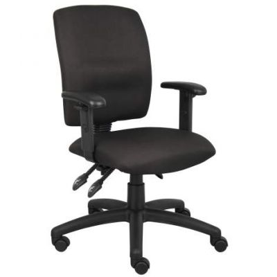Multi-Function Task Chair in Black  with Adjustable Arms