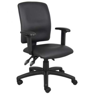 Multi-Function LeatherPlus Task Chair withAdjustable Arms - B3046