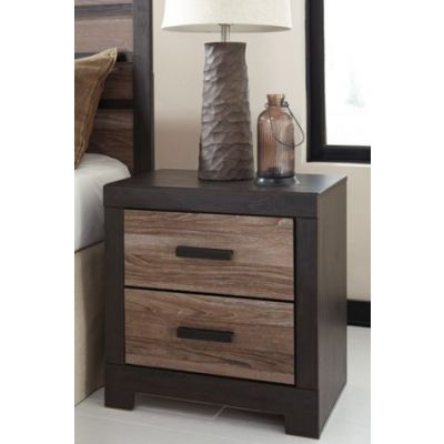 Harlinton Two Drawer Night Stand in Charcoal - B325-92