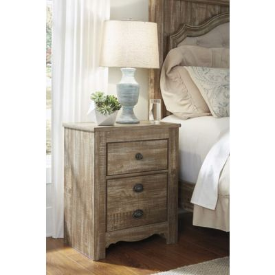 Shellington Two Drawer Night Stand in Caramel - B336-92