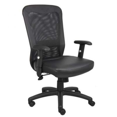 Burgundy Task Chair With 3 Paddle Mechanism Seat Slider - B580
