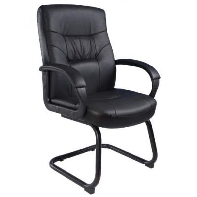 Executive Mid Back LeatherPlus Guest Chair withSled Base - B7519