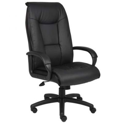 Executive Leather Plus Chair withPadded Arm - B7601