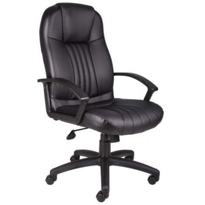 High Back Leather Plus Chair - B7641