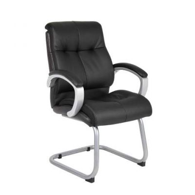 Double Plush Executive Guest Chair in Black - B8779S-BK