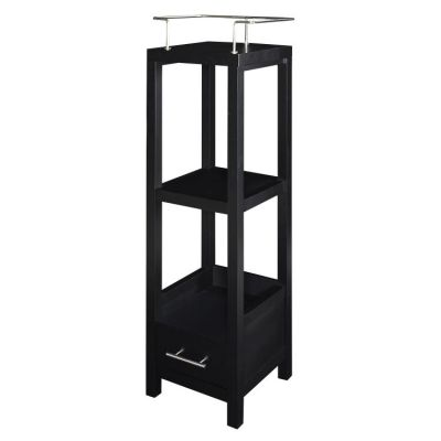 Hoover Black Tall Storage Cabinet - BA008BLK01