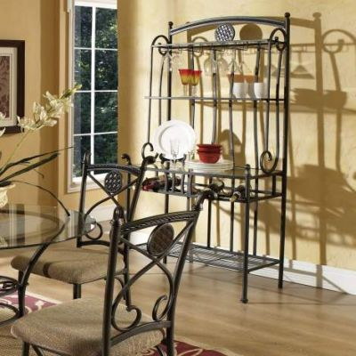 Brookfield Bakers Rack in Brown with Dark Metal Finish - BK420BR