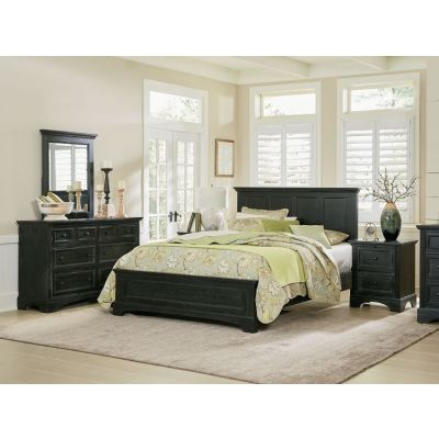 Farmhouse Basics Queen Bedroom Set in Rustic Black - BP-4200-213B